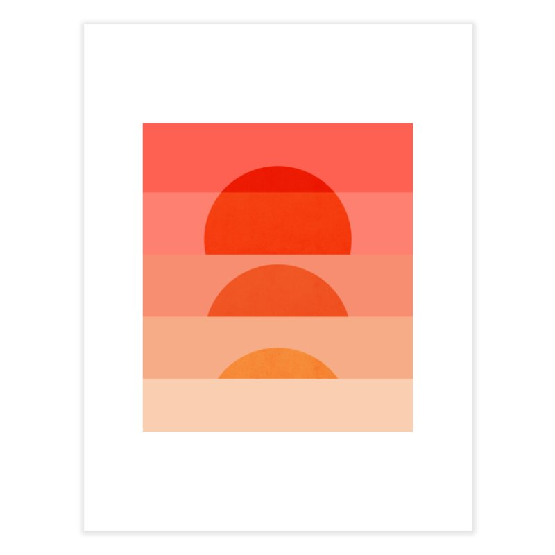 Abstraction_SUNSET_ART_001 Home Fine Art Print by yeohgh