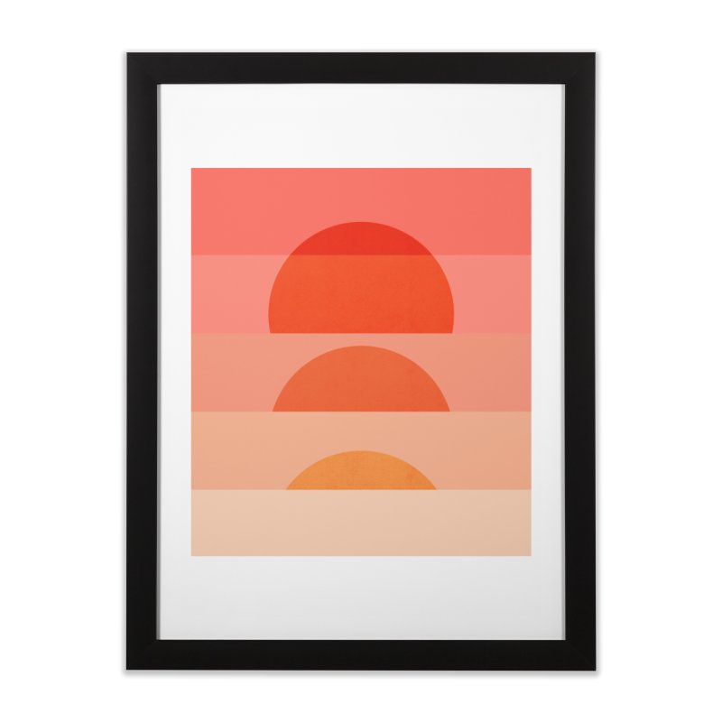 Abstraction_SUNSET_ART_001 Home Framed Fine Art Print by yeohgh