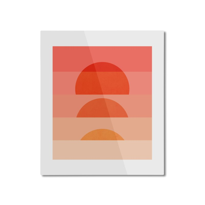Abstraction_SUNSET_ART_001 Home Mounted Aluminum Print by yeohgh