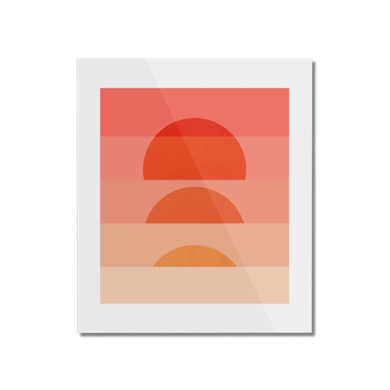 Abstraction_SUNSET_ART_001 Home Mounted Acrylic Print by yeohgh