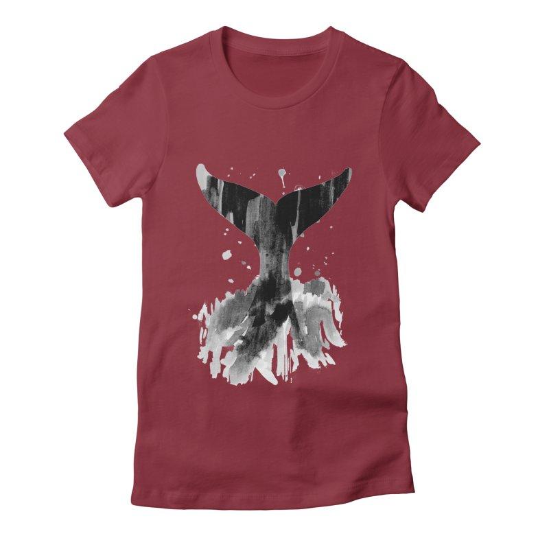 Splash Women's Fitted T-Shirt by yeohgh