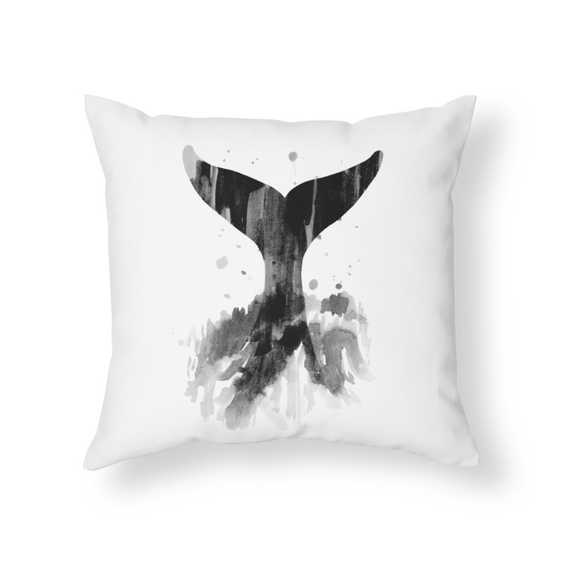 Splash Home Throw Pillow by yeohgh