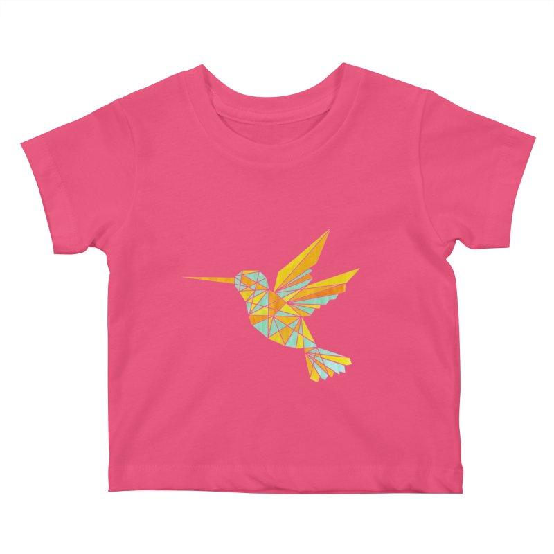 Hummingbird Kids Baby T-Shirt by yeohgh