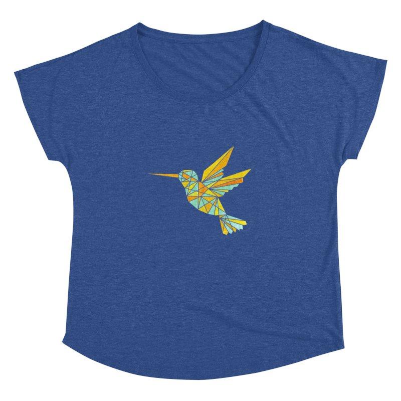 Hummingbird Women's Dolman Scoop Neck by yeohgh