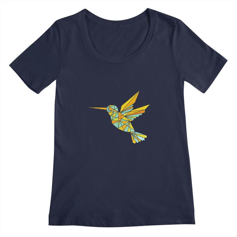 Hummingbird Women's Regular Scoop Neck by yeohgh