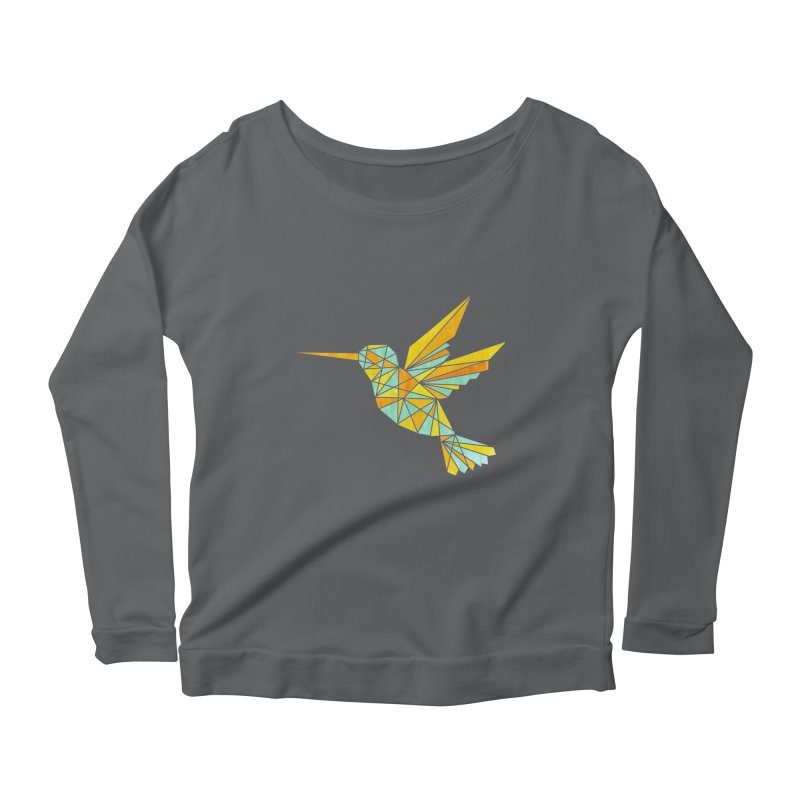 Hummingbird Women's Scoop Neck Longsleeve T-Shirt by yeohgh