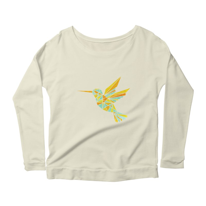 Hummingbird Women's Scoop Neck Longsleeve T-Shirt by yeohgh