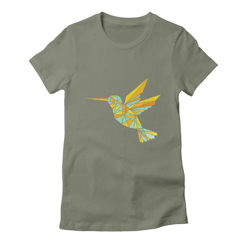 Hummingbird Women's Fitted T-Shirt by yeohgh