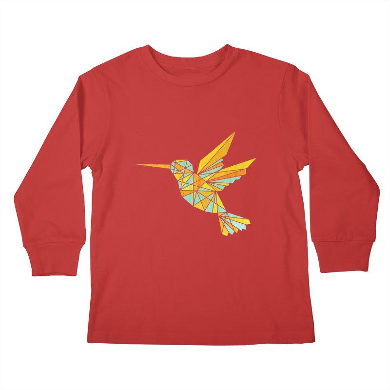 Hummingbird Kids Longsleeve T-Shirt by yeohgh
