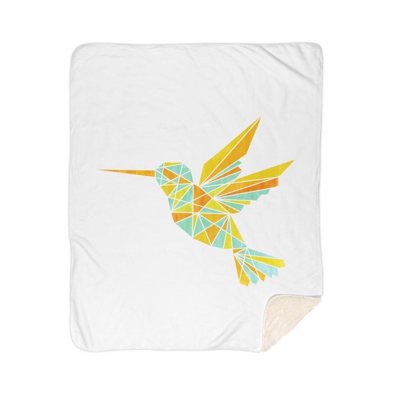 Hummingbird Home Sherpa Blanket Blanket by yeohgh