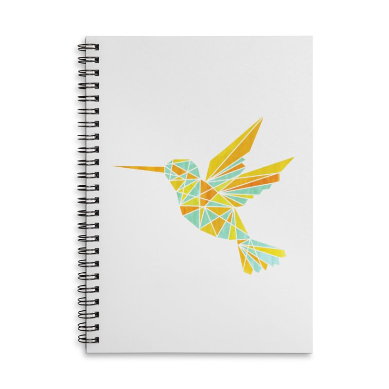 Hummingbird Accessories Lined Spiral Notebook by yeohgh