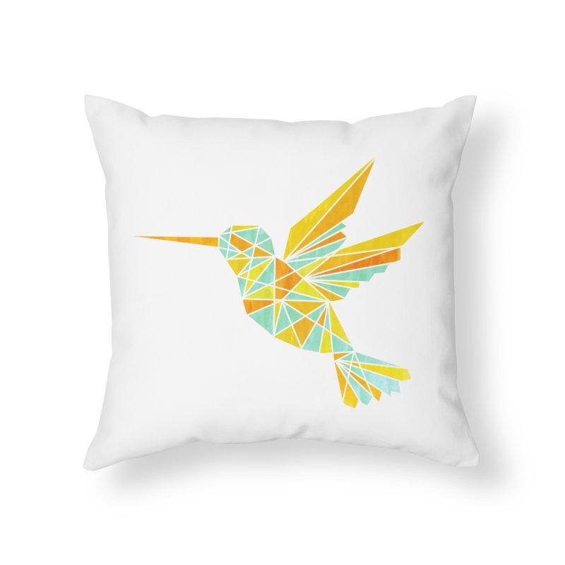 Hummingbird Home Throw Pillow by yeohgh