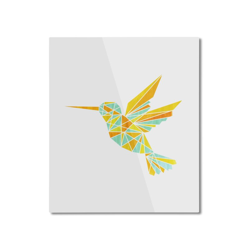 Hummingbird Home Mounted Aluminum Print by yeohgh