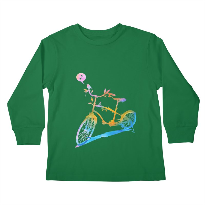 Nature Call Kids Longsleeve T-Shirt by yeohgh