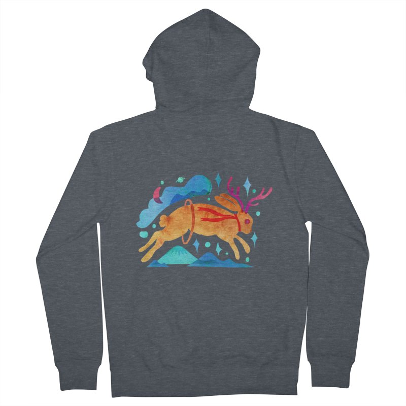 The Jackalopes Women's French Terry Zip-Up Hoody by yeohgh