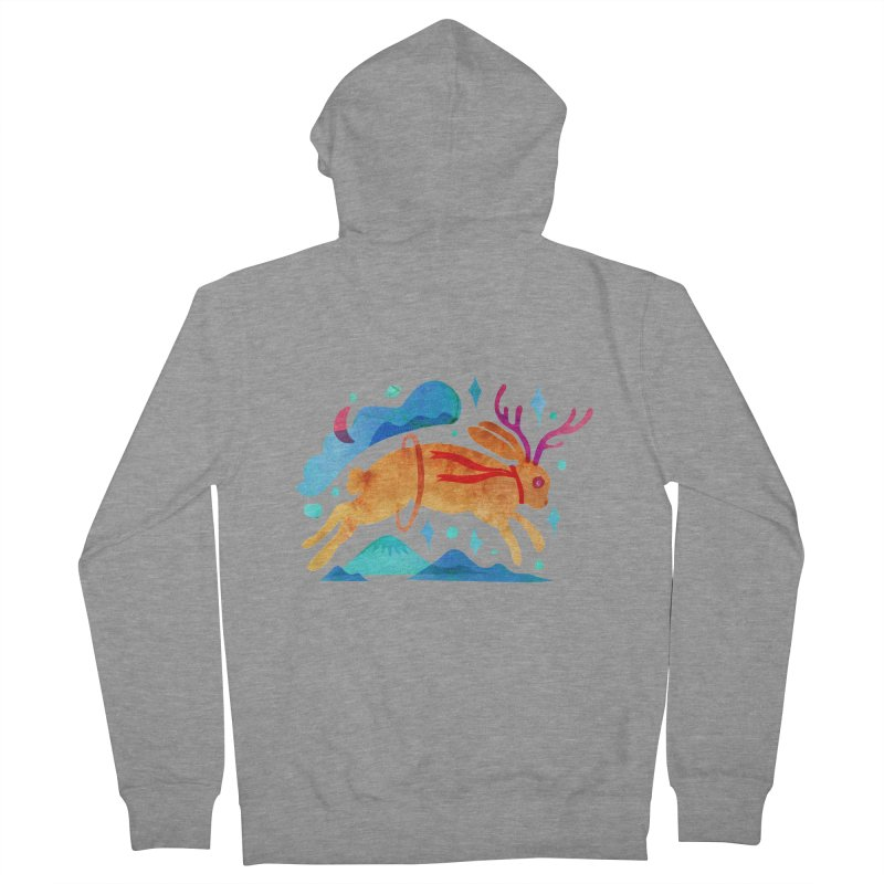The Jackalopes Men's French Terry Zip-Up Hoody by yeohgh