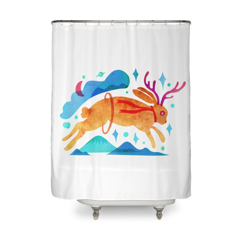 The Jackalopes Home Shower Curtain by yeohgh