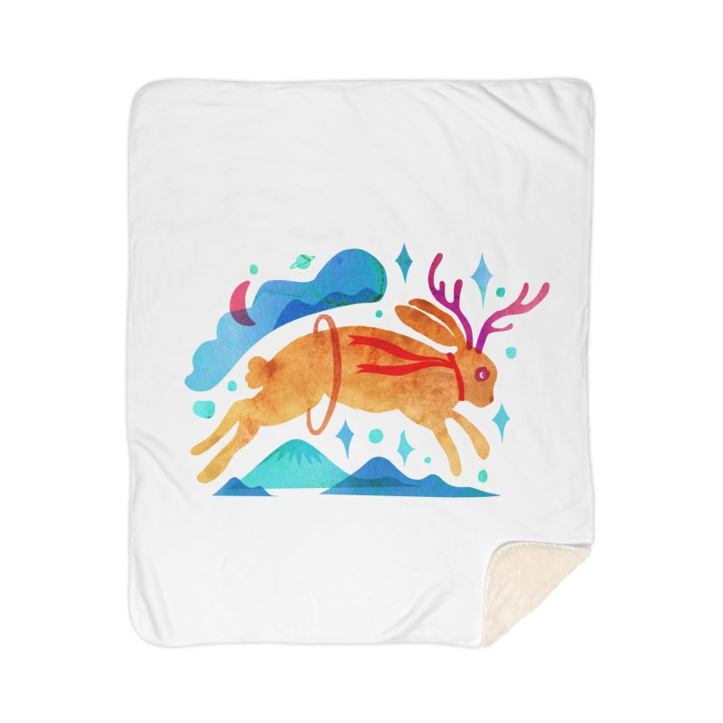 The Jackalopes Home Sherpa Blanket Blanket by yeohgh