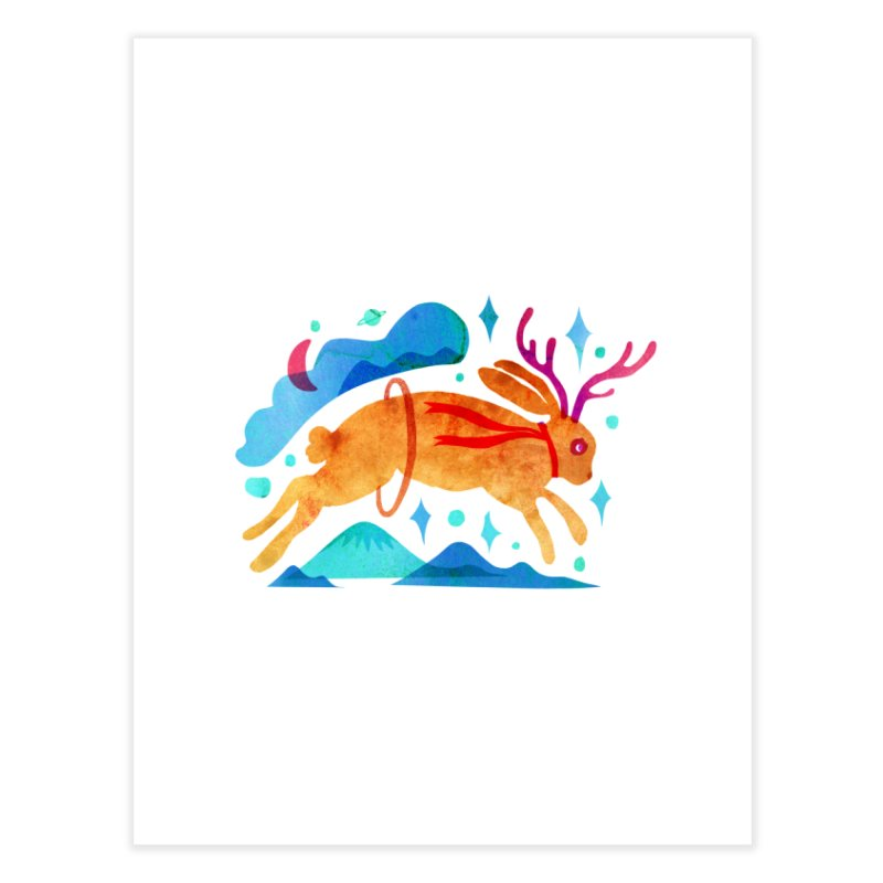 The Jackalopes Home Fine Art Print by yeohgh