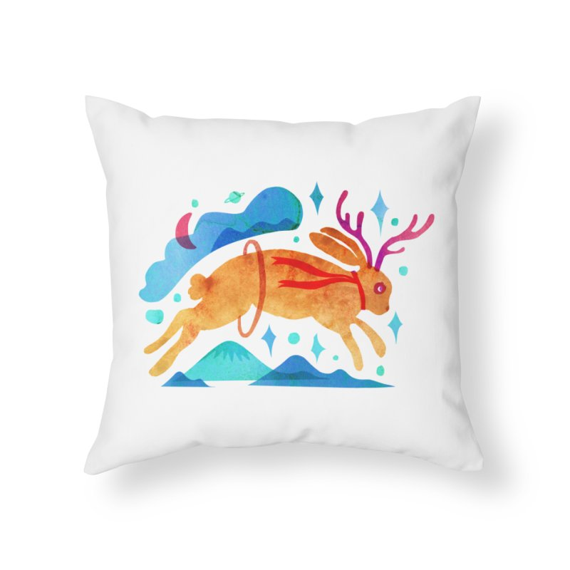 The Jackalopes Home Throw Pillow by yeohgh