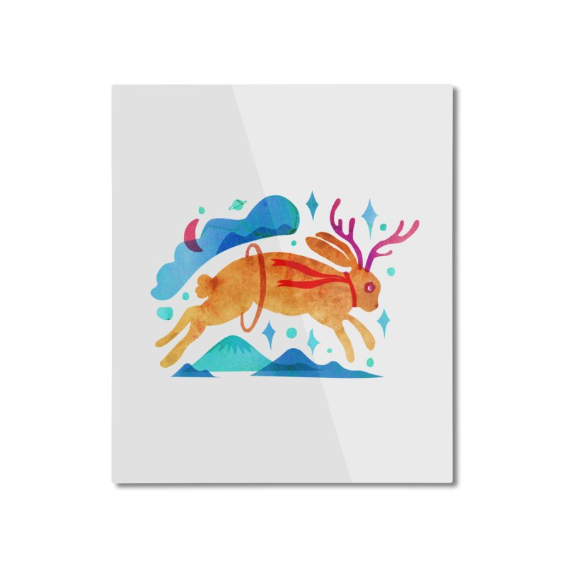 The Jackalopes Home Mounted Aluminum Print by yeohgh