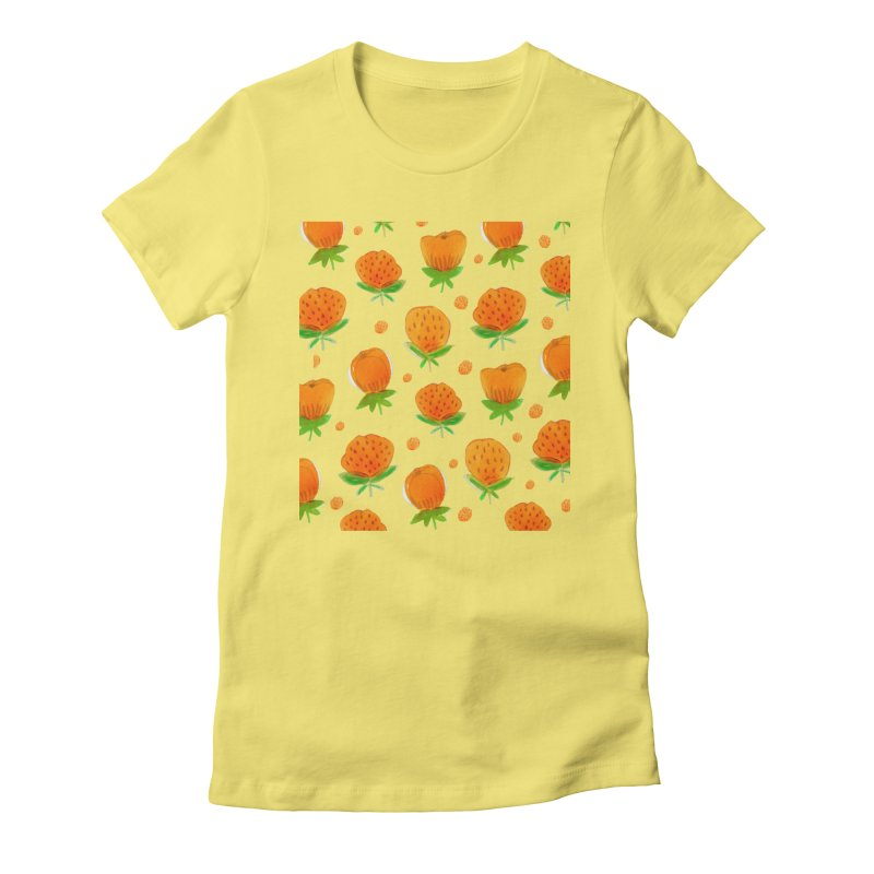 Blossom Women's Fitted T-Shirt by yeohgh
