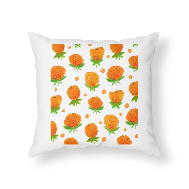 Blossom Home Throw Pillow by yeohgh