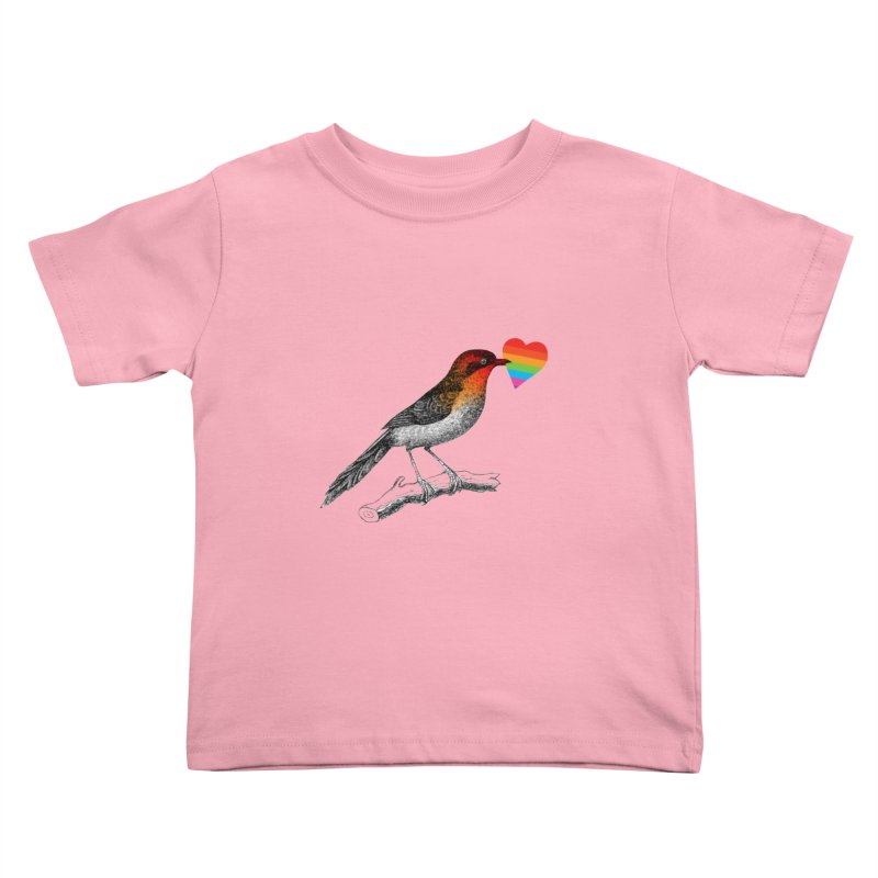 Love Affection Kids Toddler T-Shirt by yeohgh