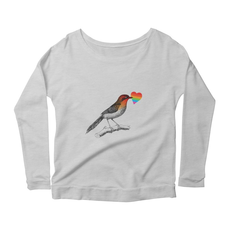 Love Affection Women's Scoop Neck Longsleeve T-Shirt by yeohgh