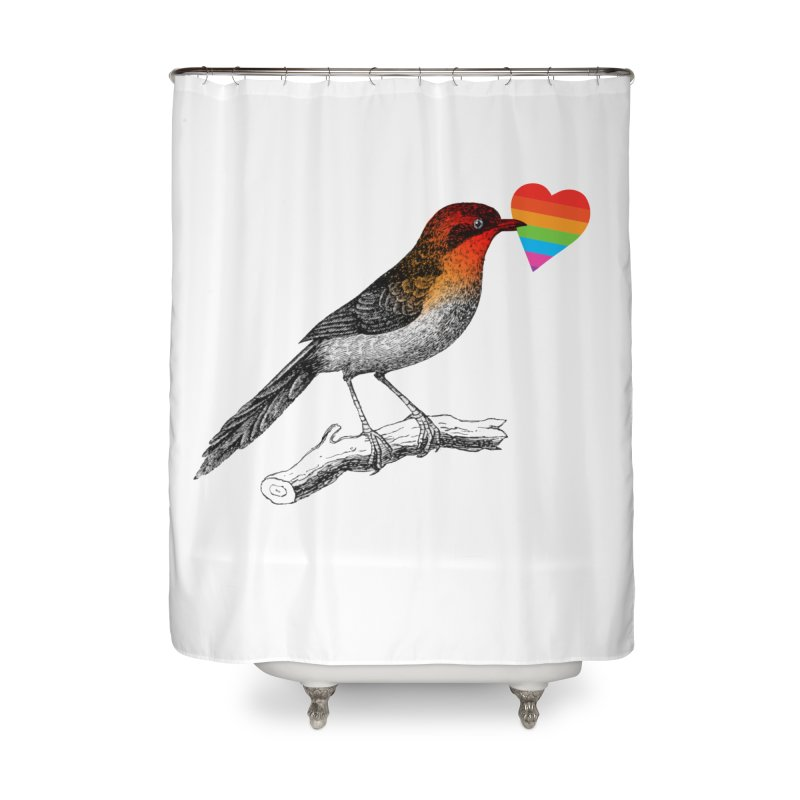 Love Affection Home Shower Curtain by yeohgh