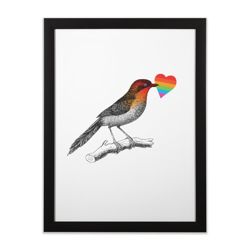 Love Affection Home Framed Fine Art Print by yeohgh