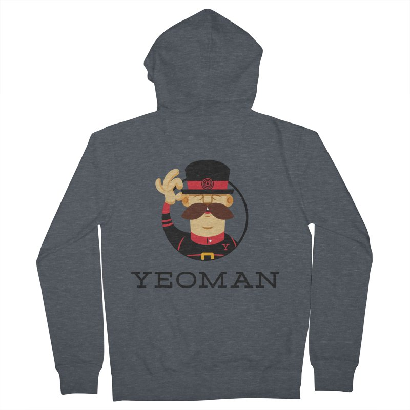 Yeoman (logo) Men's French Terry Zip-Up Hoody by Yeoman