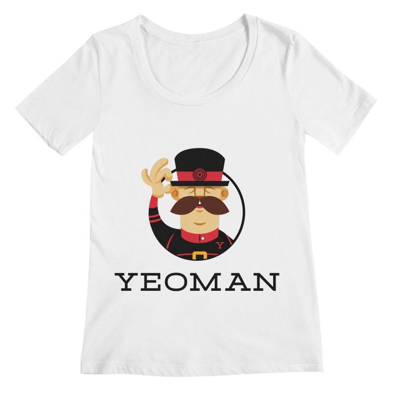 Yeoman (logo) Women's Regular Scoop Neck by Yeoman