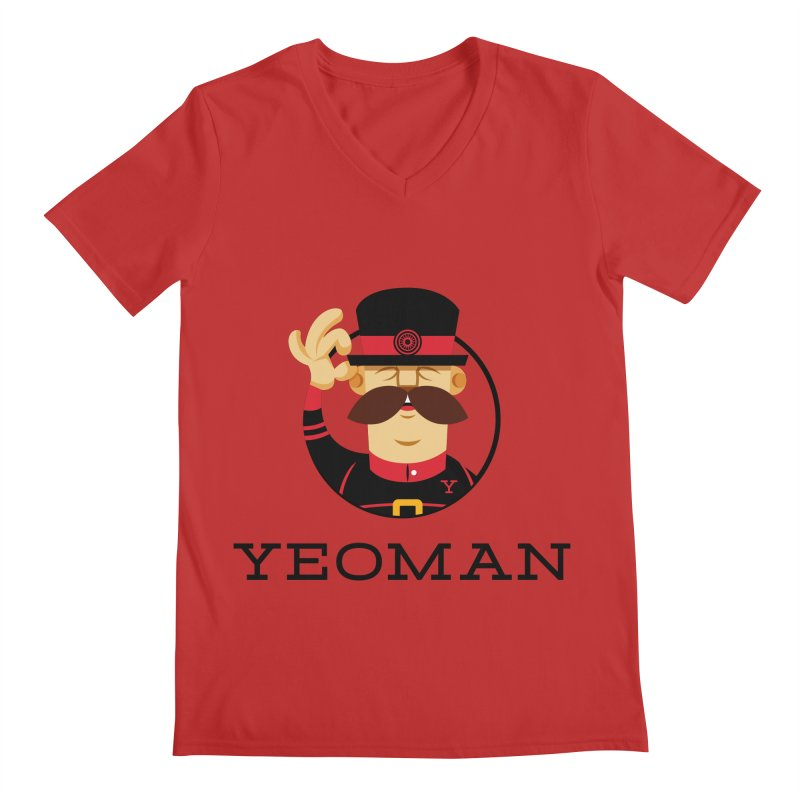 Yeoman (logo) Men's Regular V-Neck by Yeoman