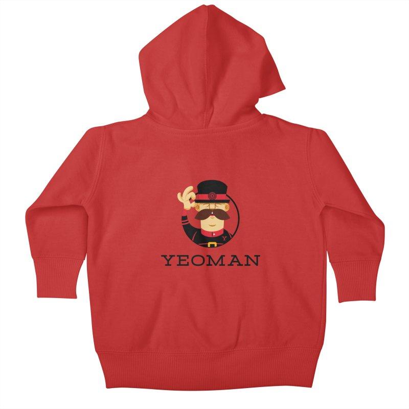 Yeoman (logo) Kids Baby Zip-Up Hoody by Yeoman