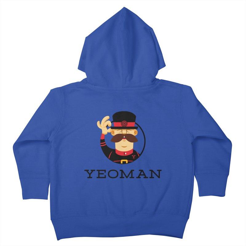 Yeoman (logo) Kids Toddler Zip-Up Hoody by Yeoman