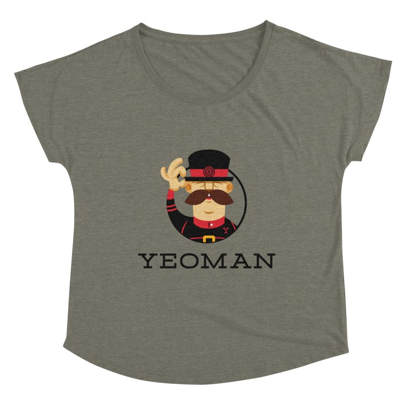 Yeoman (logo) Women's Dolman Scoop Neck by Yeoman