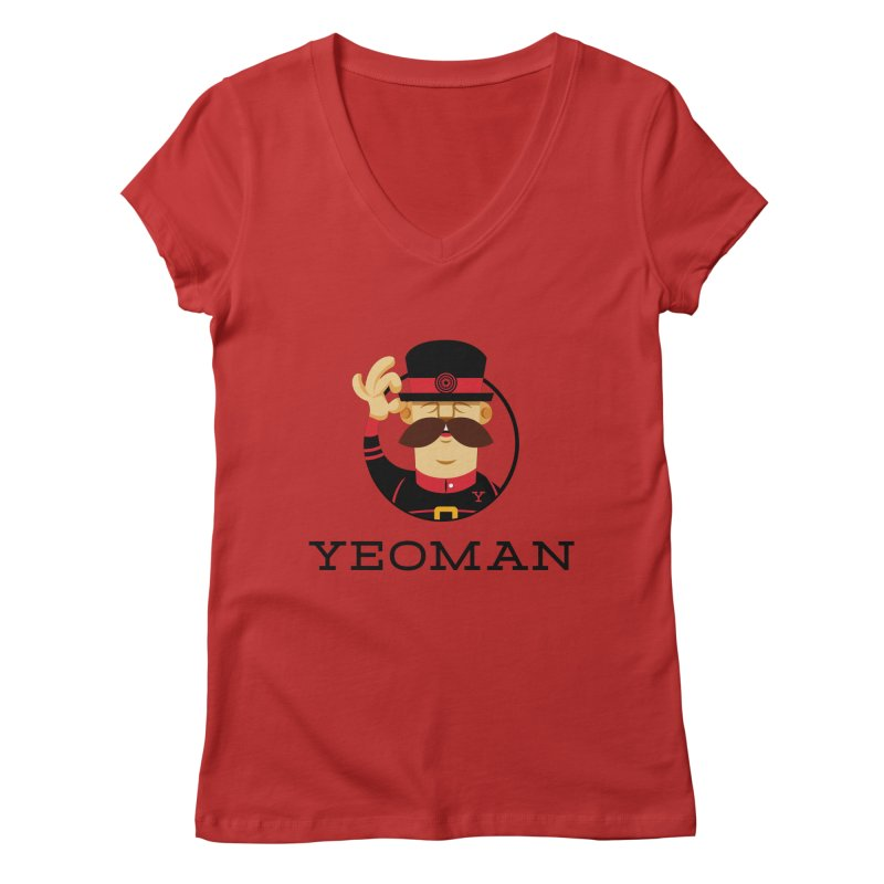 Yeoman (logo) Women's V-Neck by Yeoman