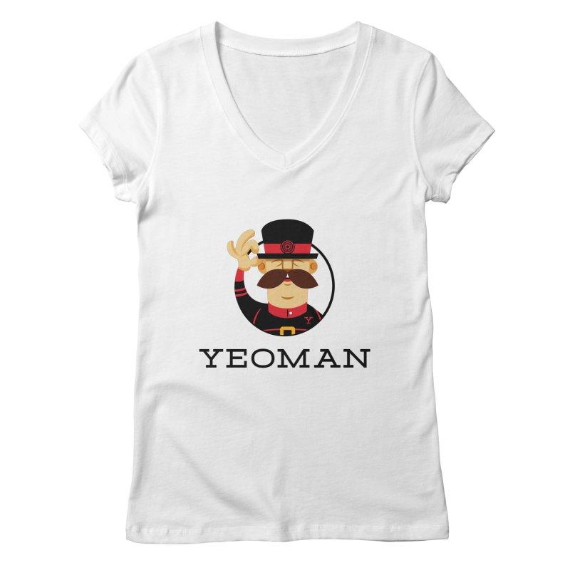 Yeoman (logo) Women's Regular V-Neck by Yeoman