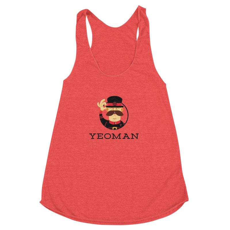 Yeoman (logo) Women's Racerback Triblend Tank by Yeoman