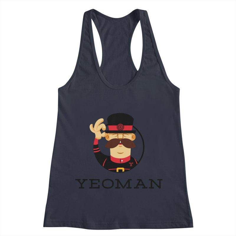 Yeoman (logo) Women's Racerback Tank by Yeoman