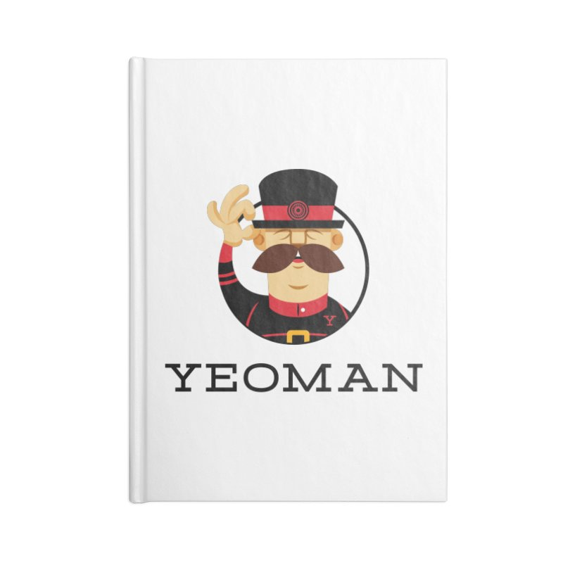 Yeoman (logo) Accessories Blank Journal Notebook by Yeoman