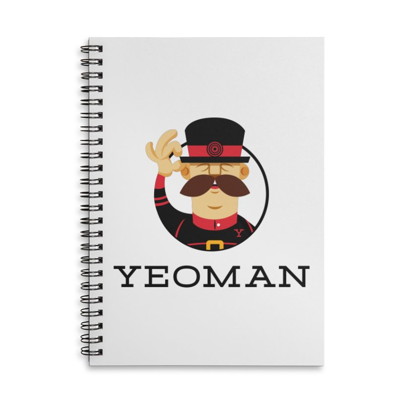 Yeoman (logo) Accessories Lined Spiral Notebook by Yeoman
