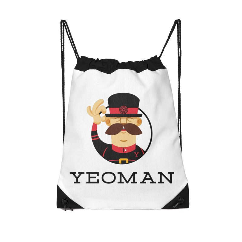 Yeoman (logo) Accessories Drawstring Bag Bag by Yeoman