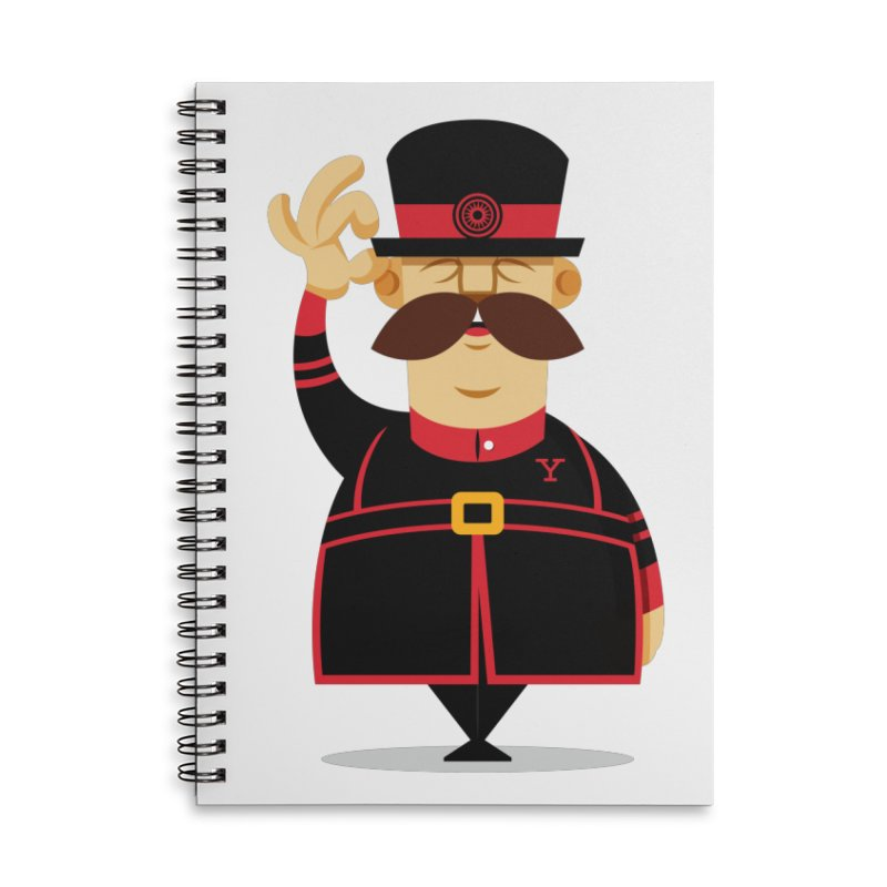 Yeoman (standing) Accessories Lined Spiral Notebook by Yeoman
