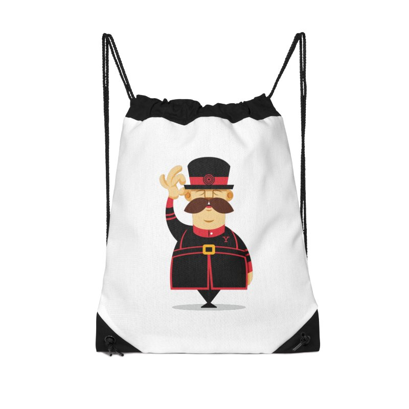 Yeoman (standing) Accessories Drawstring Bag Bag by Yeoman