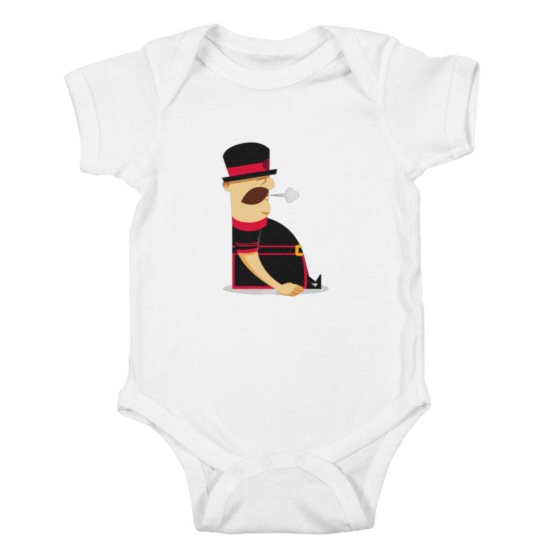 Tired Yeoman Kids Baby Bodysuit by Yeoman