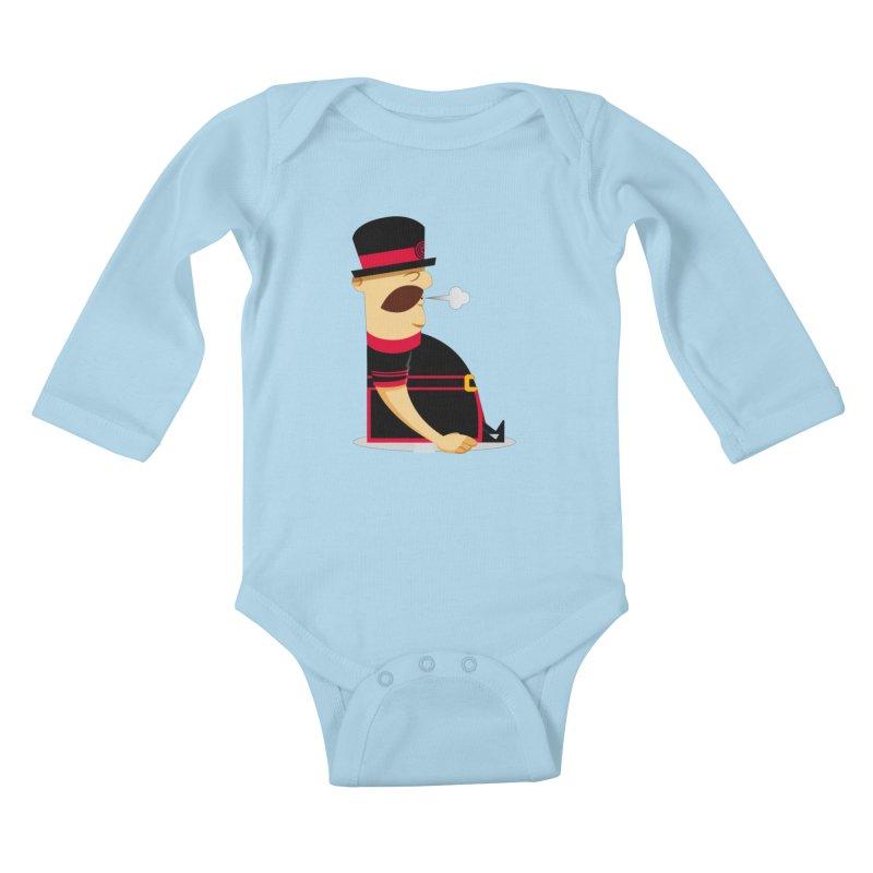 Tired Yeoman Kids Baby Longsleeve Bodysuit by Yeoman