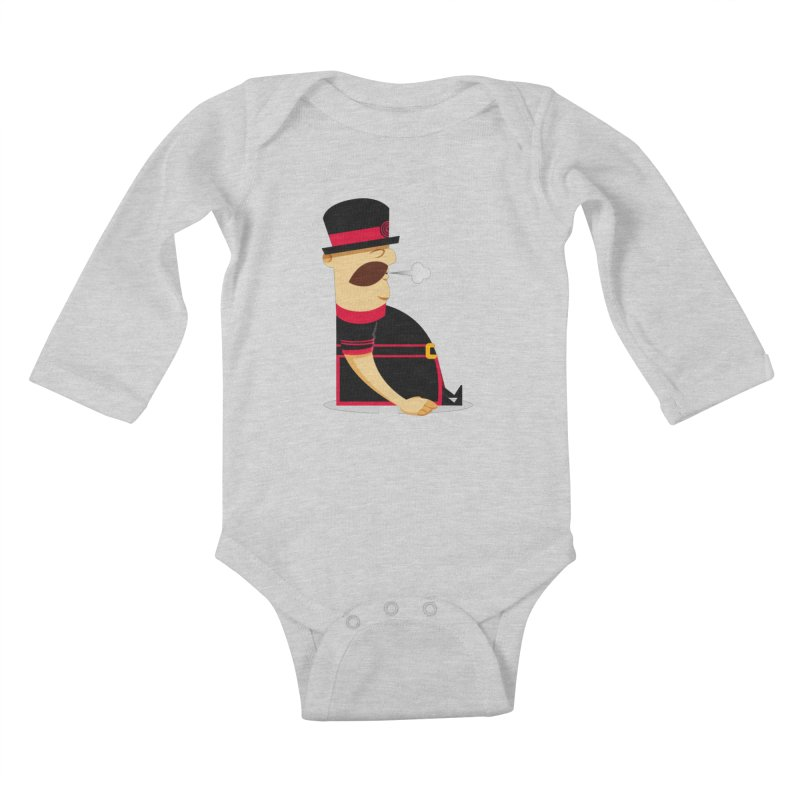 Tired Yeoman Kids Baby Longsleeve Bodysuit by Yeoman