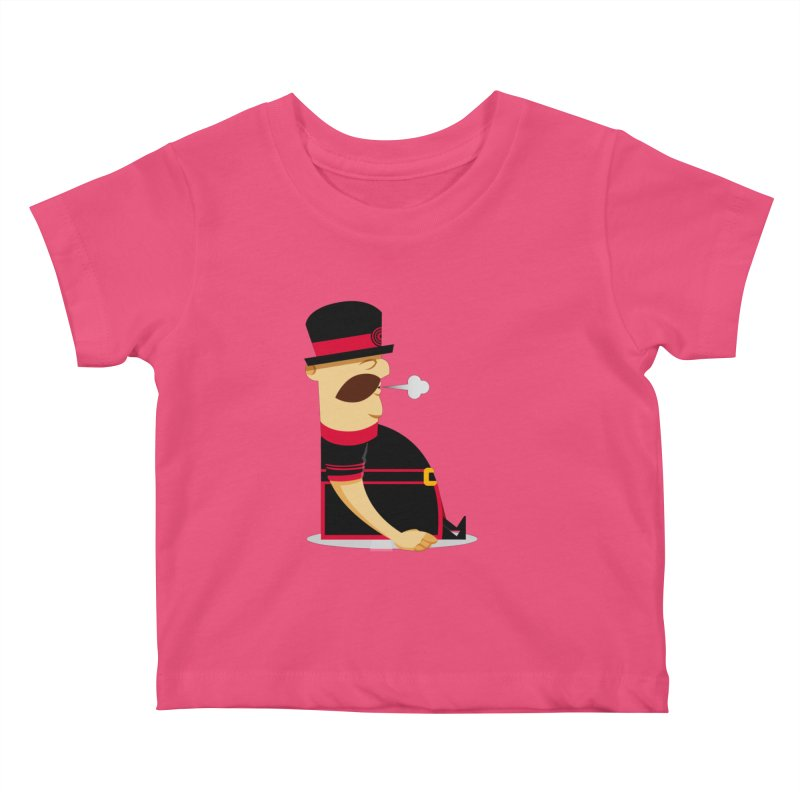 Tired Yeoman Kids Baby T-Shirt by Yeoman